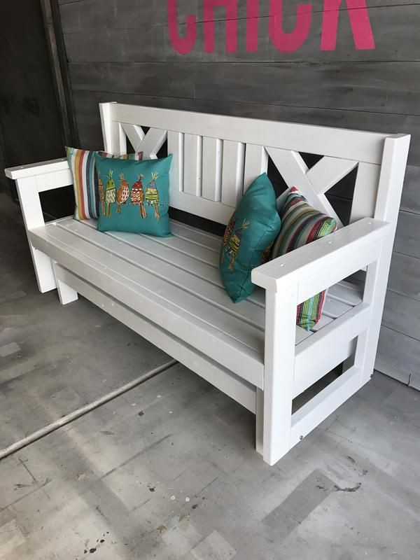 Best ideas about DIY Glider Bench . Save or Pin How to Build a DIY Farmhouse Outdoor Glider Bench Now.