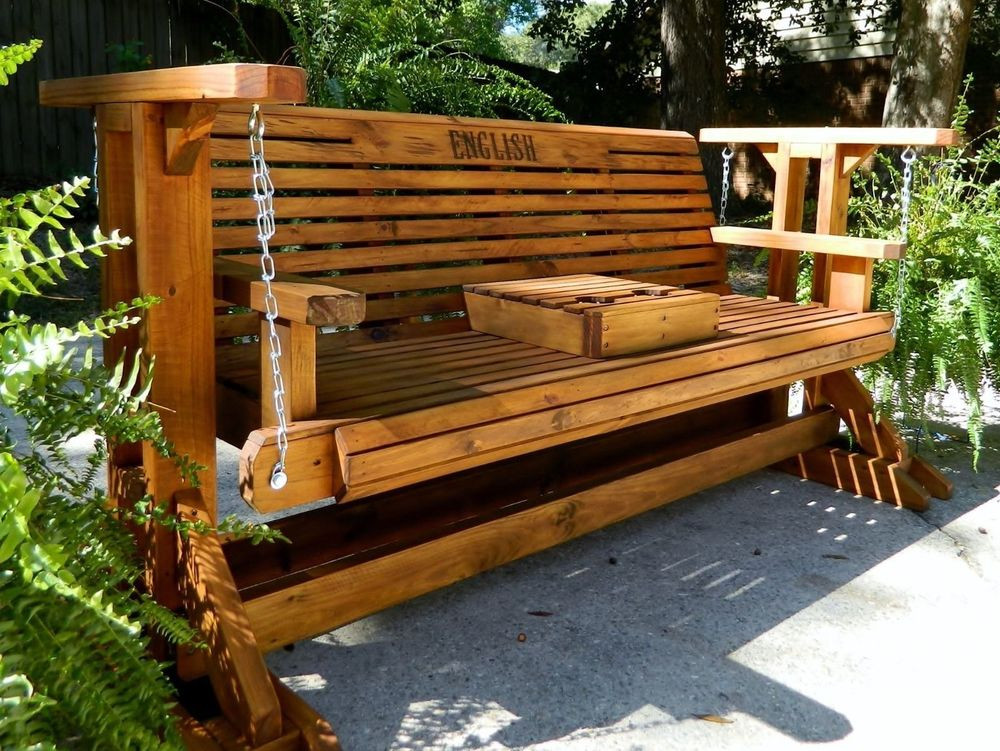 Best ideas about DIY Glider Bench . Save or Pin 5ft Handmade Southern Style Wood Porch Glider Patio Glider Now.