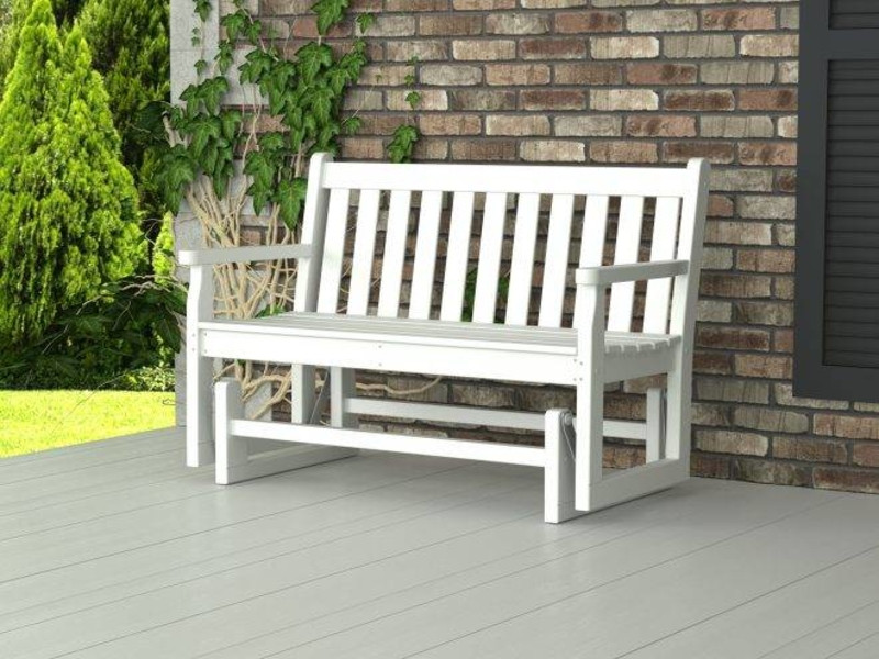 Best ideas about DIY Glider Bench . Save or Pin Outdoor patio benches homemade wooden benches outdoor Now.