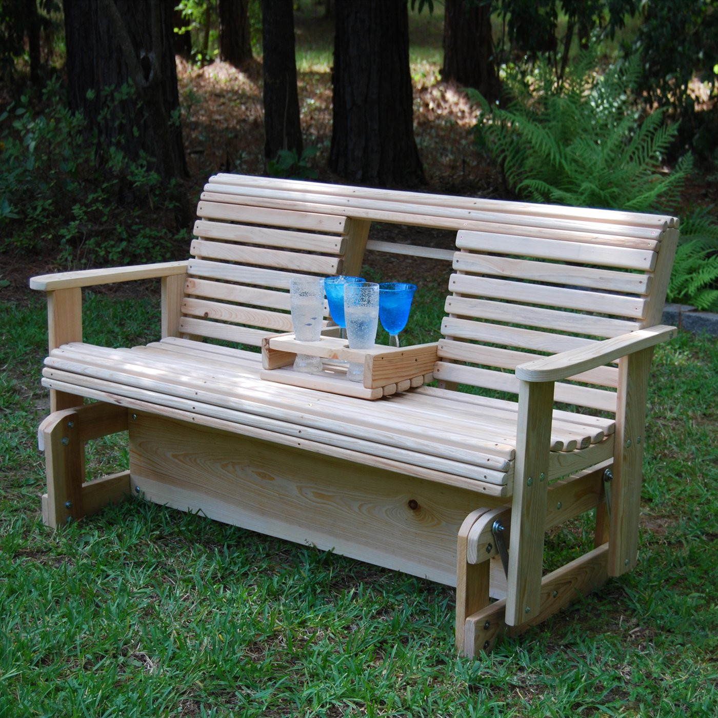 Best ideas about DIY Glider Bench . Save or Pin 20 amazing diy garden furniture ideas Now.