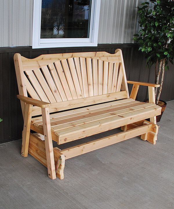 Best ideas about DIY Glider Bench . Save or Pin Look at this Unfinished 5 Fanback Glider Bench on zulily Now.