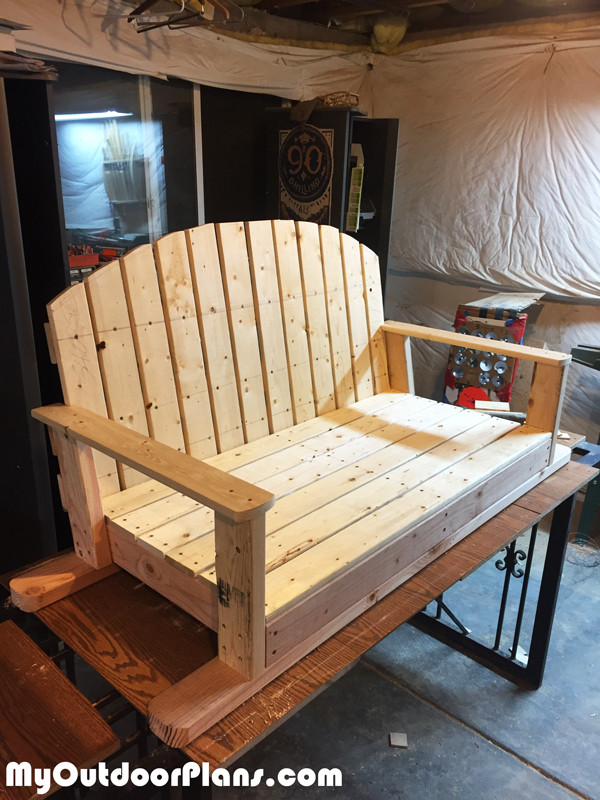 Best ideas about DIY Glider Bench . Save or Pin DIY Wood Glider Swing MyOutdoorPlans Now.