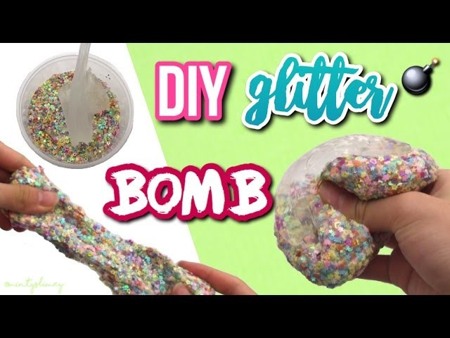 Best ideas about DIY Glitter Bomb . Save or Pin DIY Crunchiest Glitter Bomb Slime ASMR Slime Now.