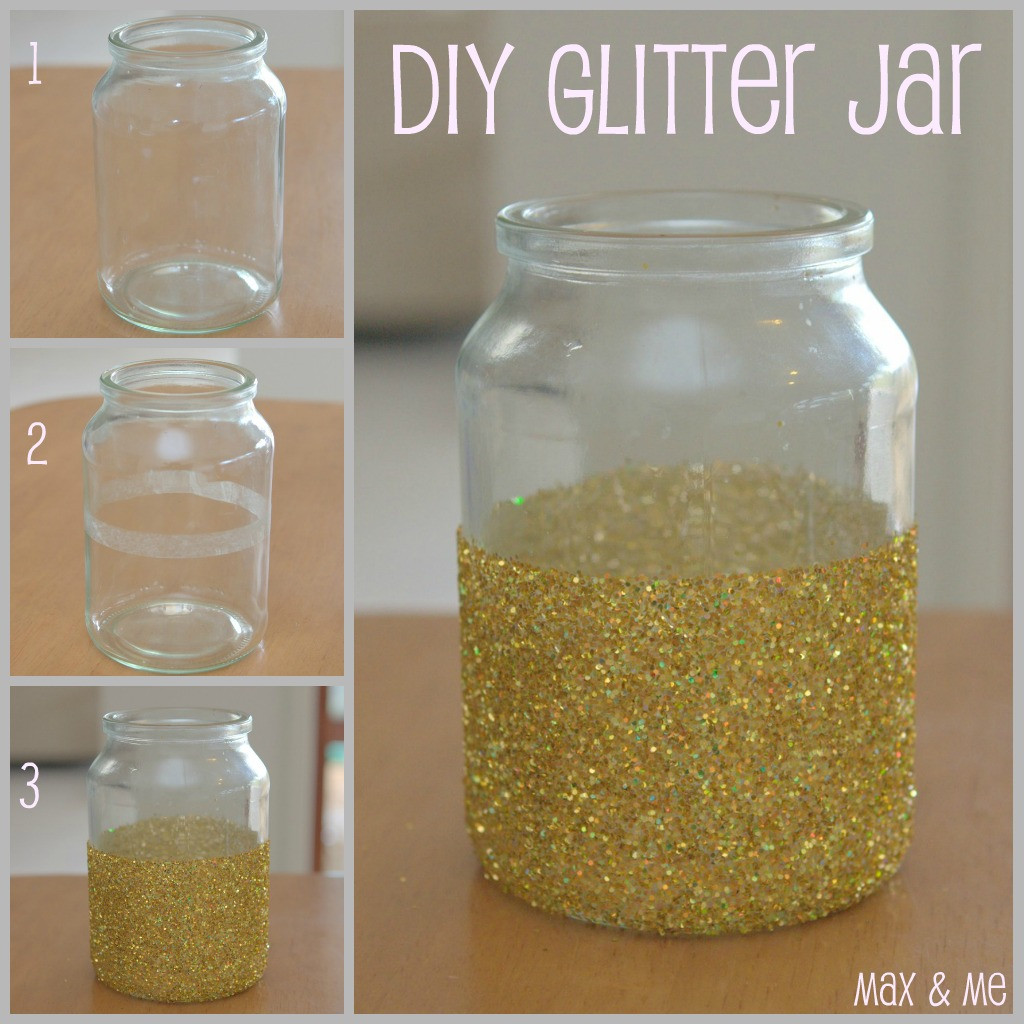 Best ideas about DIY Glitter Jar . Save or Pin Max & Me Prettying up those Mason Jars Now.