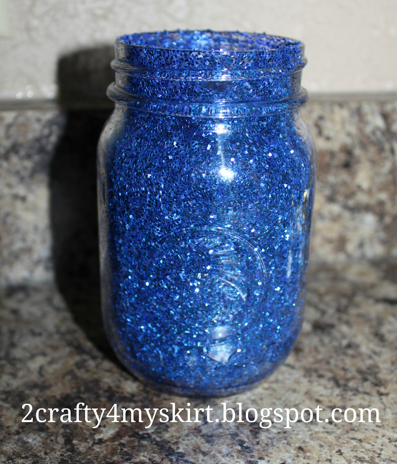 Best ideas about DIY Glitter Jar . Save or Pin 2 Crafty 4 My Skirt DIY Glitter Mason Jar Centerpieces Now.