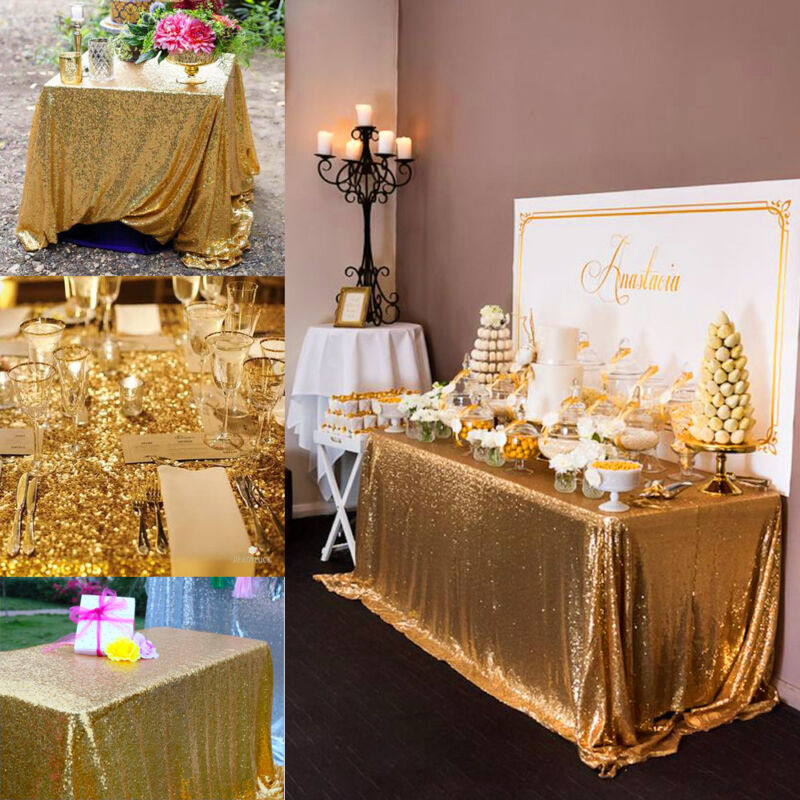 Best ideas about DIY Glitter Tablecloth . Save or Pin 100 150cm Rectangular Sequin Tablecloth Table Cloth Now.
