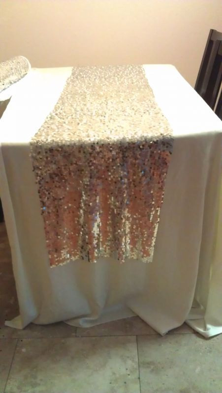 Best ideas about DIY Glitter Tablecloth . Save or Pin DIY sequin runners Save $$ Tying the Knot Now.