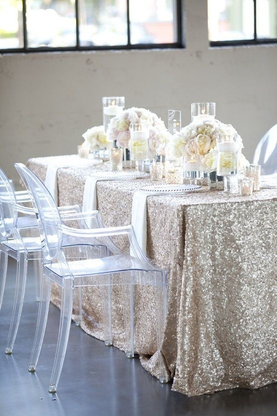 Best ideas about DIY Glitter Tablecloth . Save or Pin Glam Glitter Wedding Ideas Now.