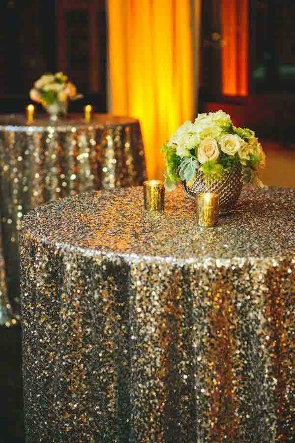 Best ideas about DIY Glitter Tablecloth . Save or Pin Top 32 Sparkling DIY Decoration Ideas For New Years Eve Party Now.