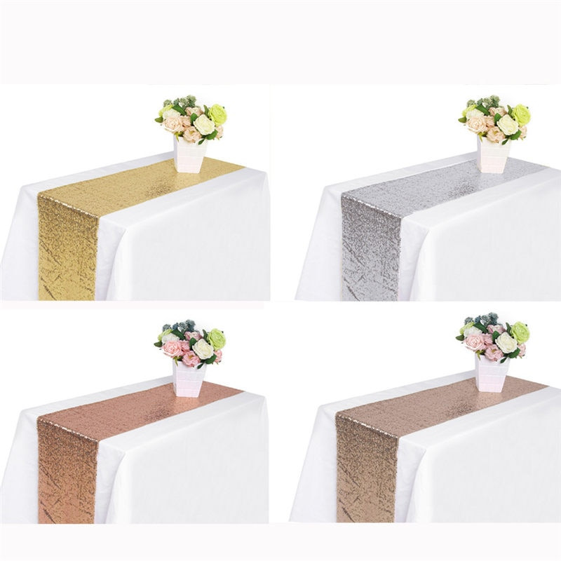 Best ideas about DIY Glitter Tablecloth . Save or Pin Sequin Satin Table Runner Glitter Tablecloth Bar Wedding Now.