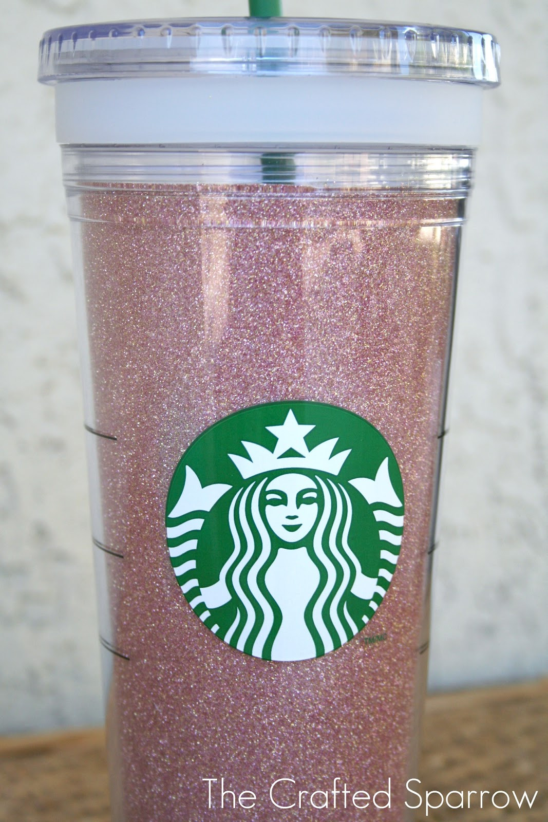 Best ideas about DIY Glitter Tumbler . Save or Pin DIY Glittered Starbucks Tumbler The Crafted Sparrow Now.
