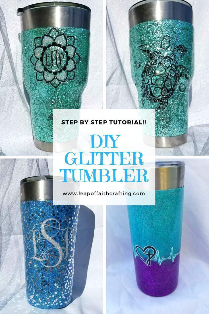 Best ideas about DIY Glitter Tumbler . Save or Pin Glitter Tumbler Step by Step Pics and Video Tutorial Now.