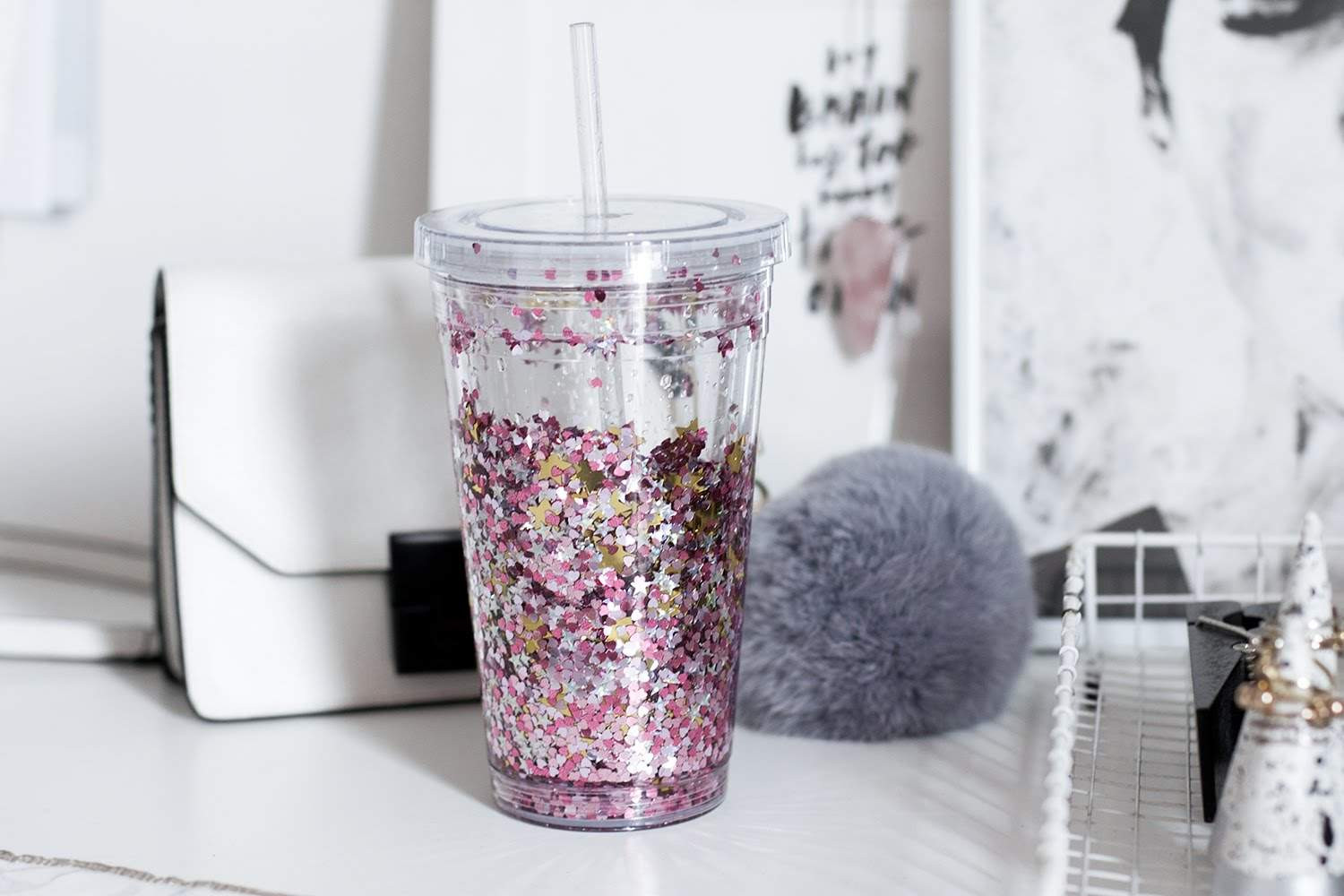 Best ideas about DIY Glitter Tumbler . Save or Pin DIY Glitter Drink Tumbler Now.