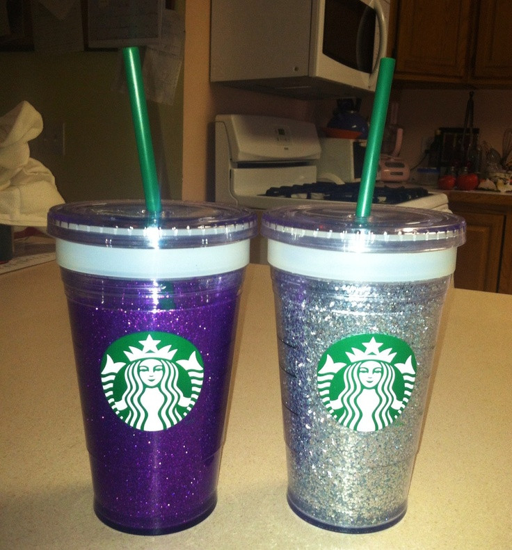 Best ideas about DIY Glitter Tumbler . Save or Pin DIY GLITTER TUMBLERS You will need Starbucks double Now.
