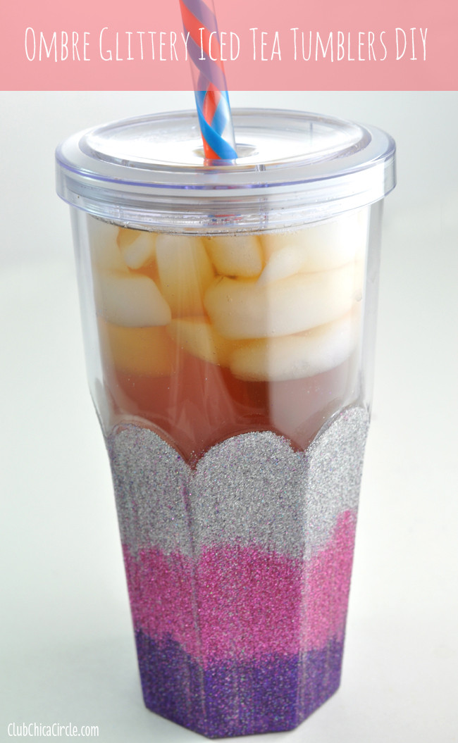 Best ideas about DIY Glitter Tumbler . Save or Pin Ombre Glittery Iced Tea Tumblers DIY Now.
