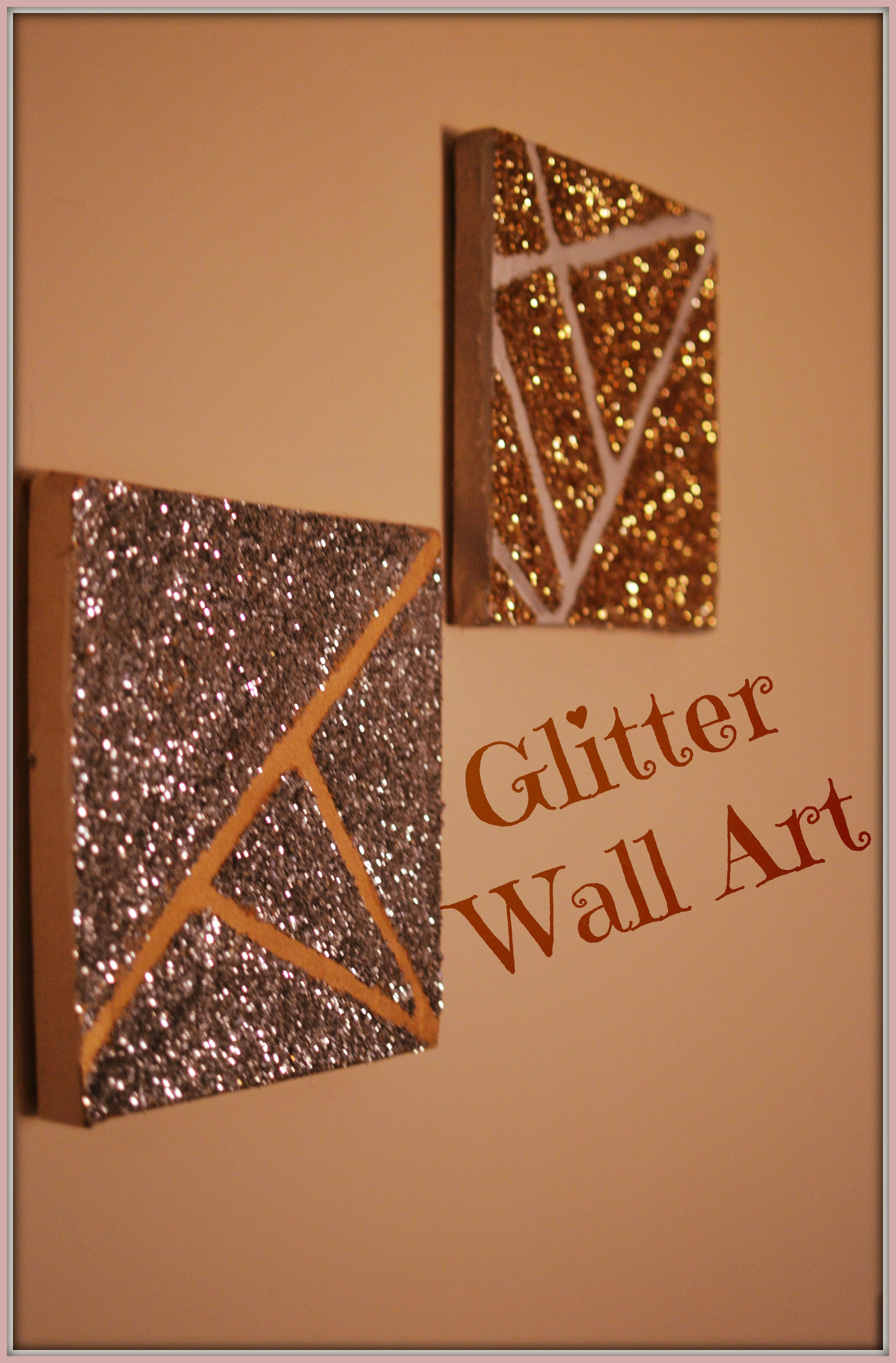 Best ideas about DIY Glitter Wall . Save or Pin DIY Glitter Wall Art – Delicious And DIY Now.