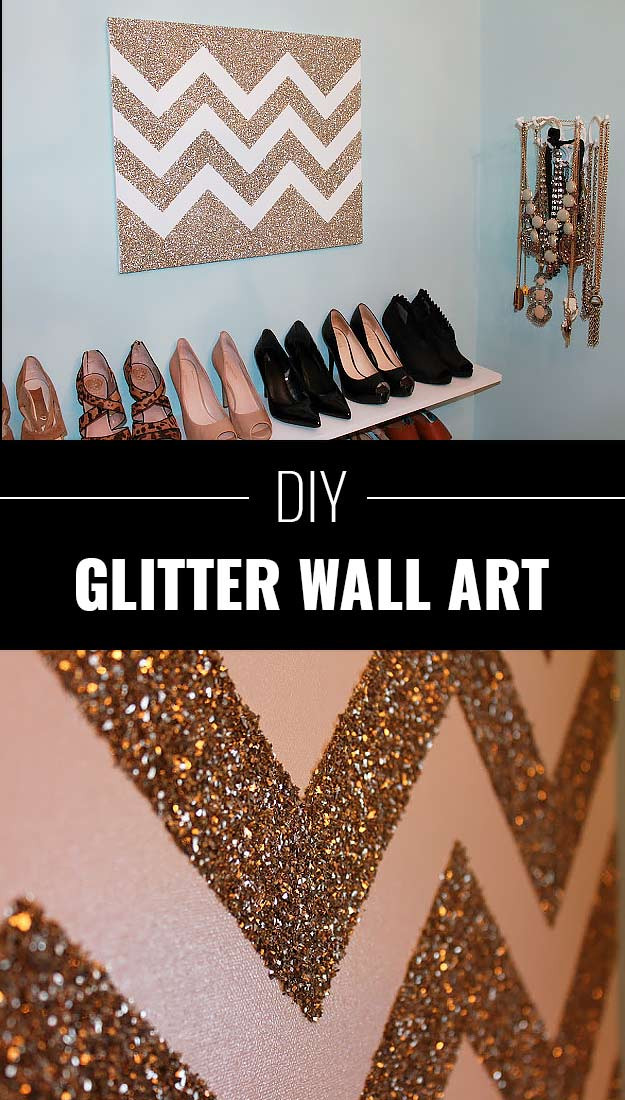 Best ideas about DIY Glitter Wall . Save or Pin 34 Sparkly Glittery DIY Crafts You ll Love Now.