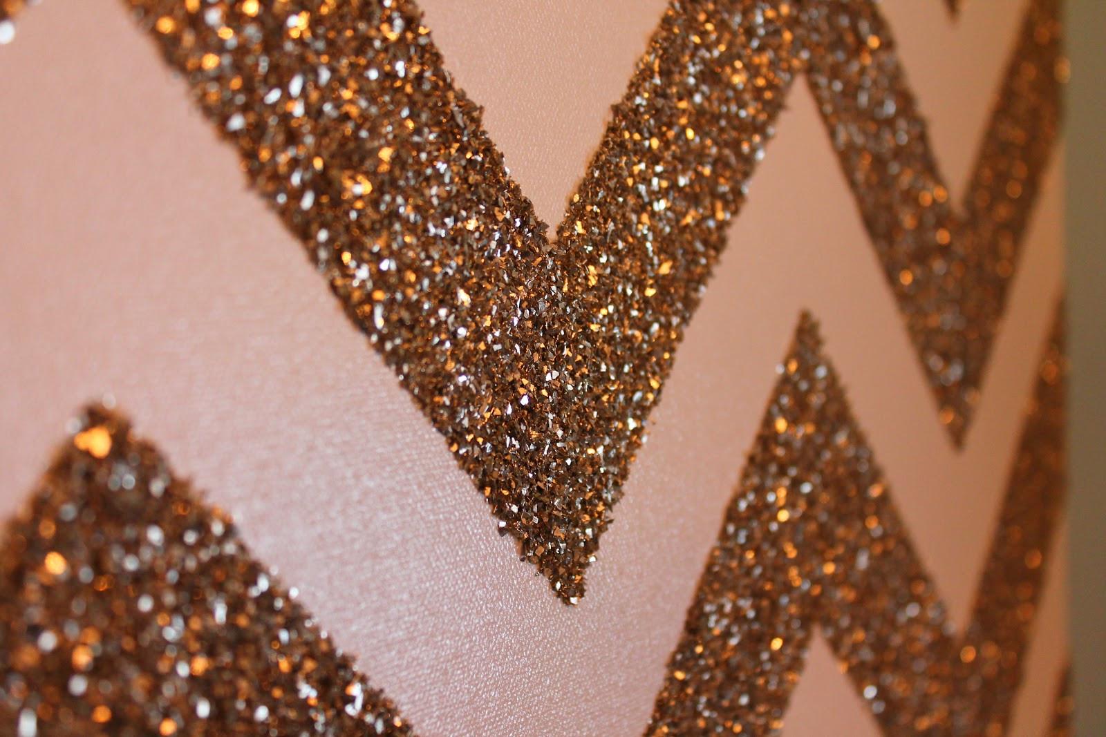 Best ideas about DIY Glitter Wall . Save or Pin DIY Glitter Chevron Art Penny Pincher Fashion Now.