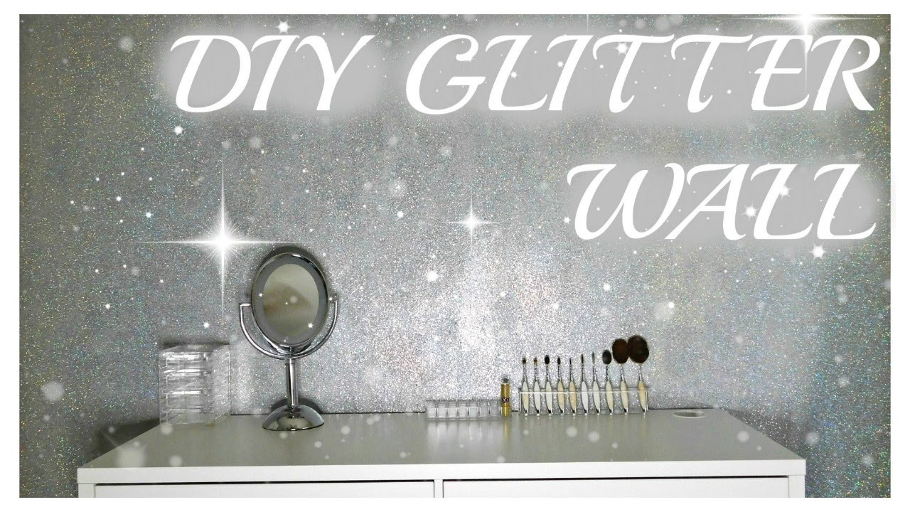 Best ideas about DIY Glitter Wall . Save or Pin DIY GLITTER WALL Now.