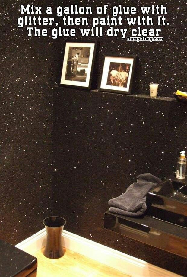 Best ideas about DIY Glitter Wall . Save or Pin Glitter wall Add some sparkle to your ceiling Now.