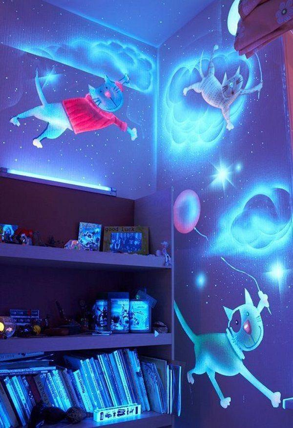 Best ideas about DIY Glow In The Dark Paint . Save or Pin How to DIY Glow In The Dark Paint Wall Murals Now.