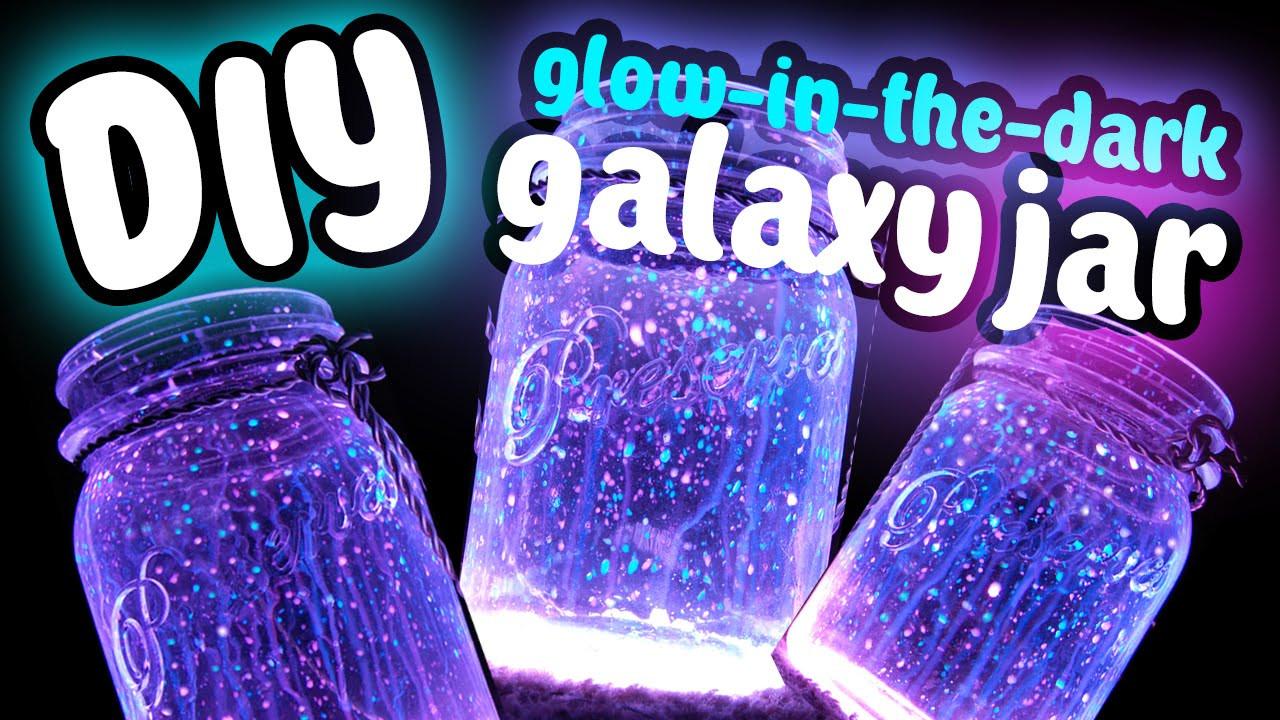 Best ideas about DIY Glow In The Dark Paint . Save or Pin DIY Fairy Galaxy Glow Jar Easy DIY Glow In The Dark Now.