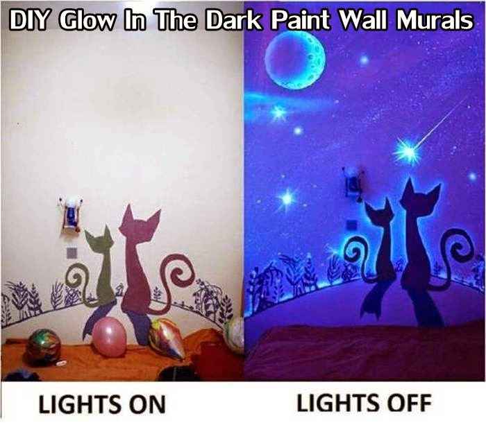 Best ideas about DIY Glow In The Dark Paint . Save or Pin DIY Glow In The Dark Paint Wall Murals DIY Craft Projects Now.
