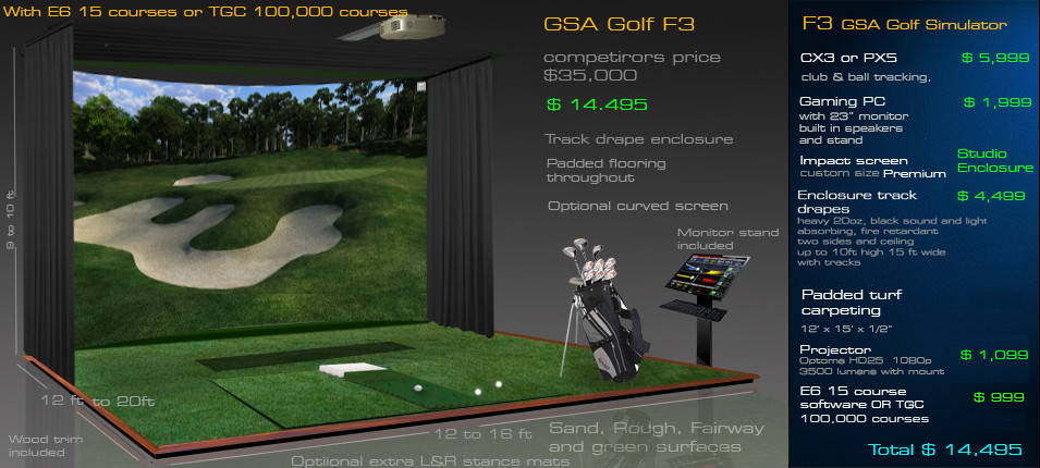 Best ideas about DIY Golf Simulator . Save or Pin GSA Advanced Golf Simulators Enclosures Now.
