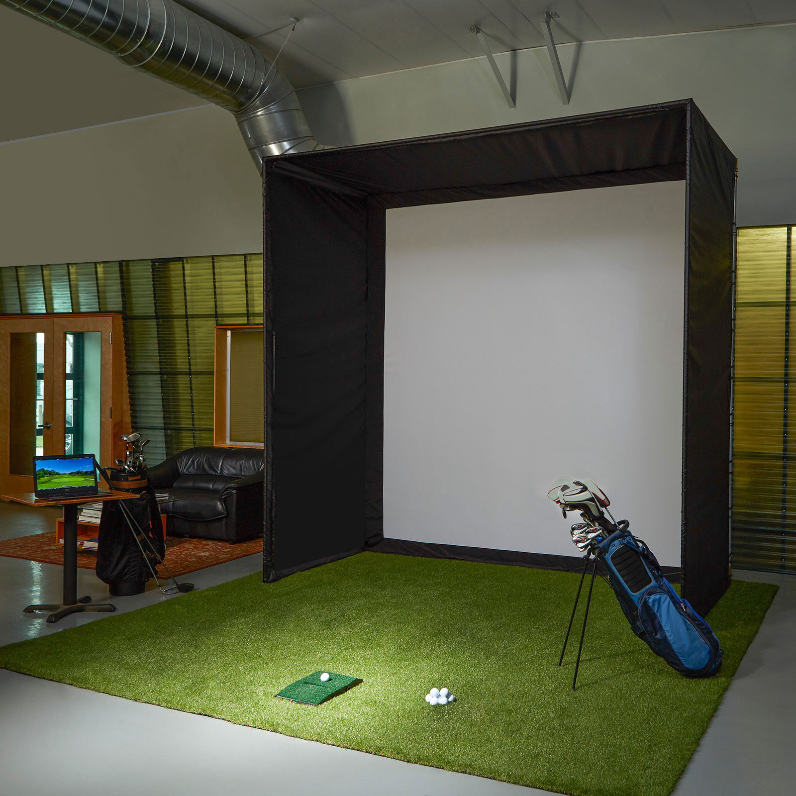 Best ideas about DIY Golf Simulator . Save or Pin Golf Simulator Impact Screens Now.