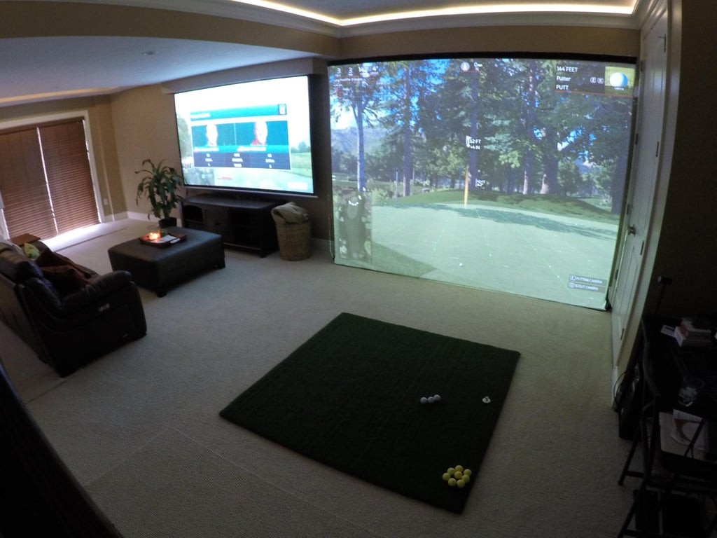 Best ideas about DIY Golf Simulator . Save or Pin Home Golf Simulator Almost plete golf Now.