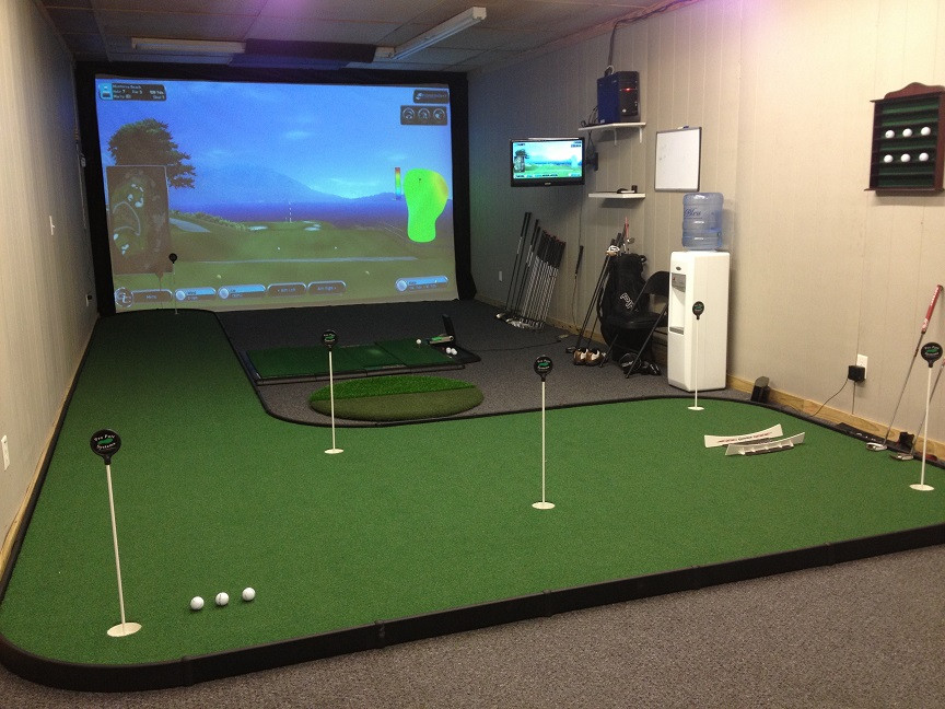 Best ideas about DIY Golf Simulator . Save or Pin Simply the Best Indoor Putting Greens Now.