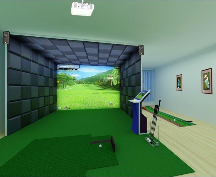 Best ideas about DIY Golf Simulator . Save or Pin 82 bästa bilderna om Great Indoor Golf Rooms på Pinterest Now.