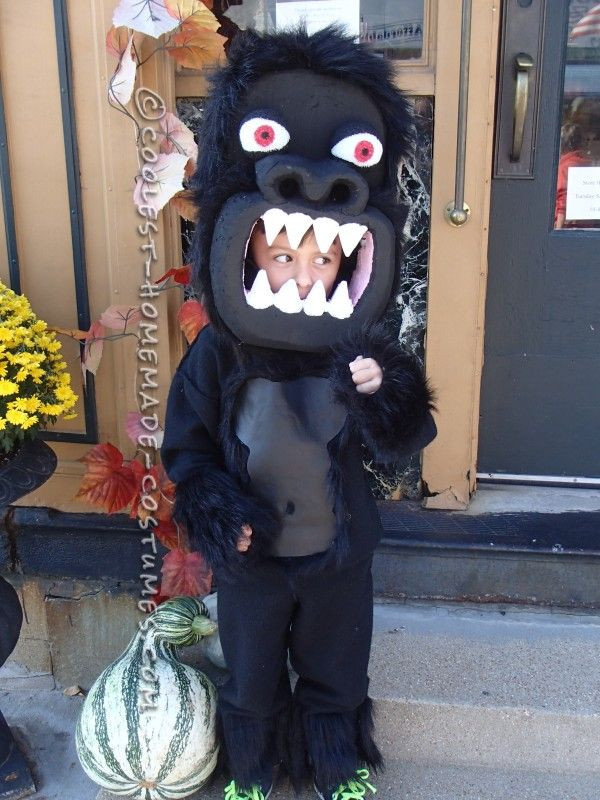 Best ideas about DIY Gorilla Costume . Save or Pin Awesome Homemade Gorilla Costume for a Boy 2 Now.