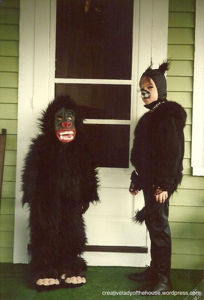 Best ideas about DIY Gorilla Costume . Save or Pin DIY gorilla and cat costume Costumes Now.