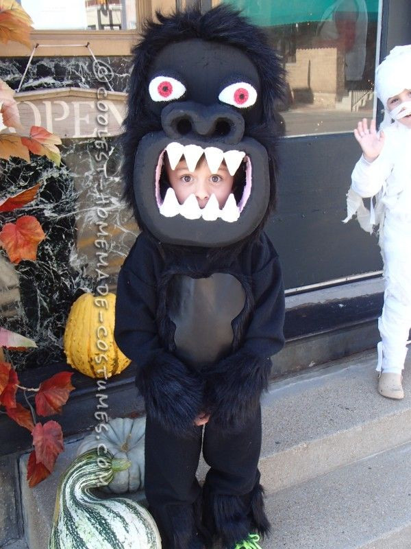 Best ideas about DIY Gorilla Costume . Save or Pin Awesome Homemade Gorilla Costume for a Boy Now.