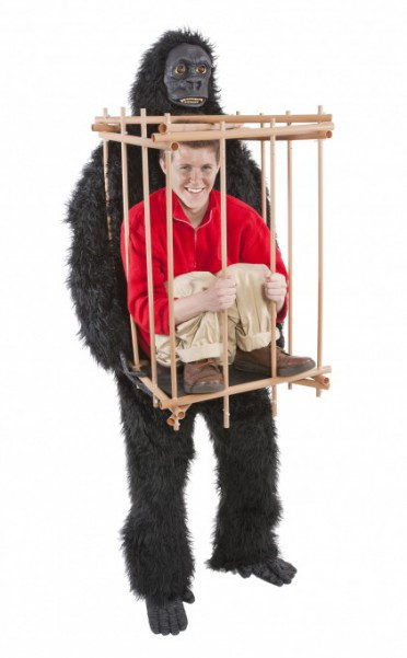 Best ideas about DIY Gorilla Costume . Save or Pin Get Me Outta This Cage gorilla cage costume Now.