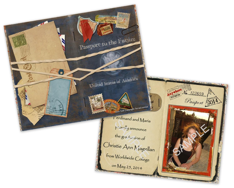 Best ideas about DIY Graduation Announcements . Save or Pin Passport Graduation Announcement DIY Printable Template Now.