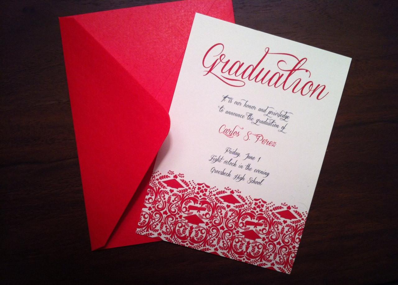 Best ideas about DIY Graduation Announcements . Save or Pin DIY Graduation Invitation Announcement High School College Now.