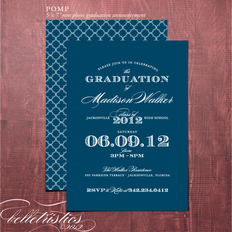 Best ideas about DIY Graduation Announcements . Save or Pin Belletristics Stationery Design and Inspiration for the Now.