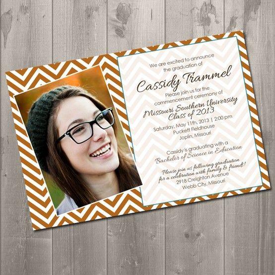 Best ideas about DIY Graduation Announcements . Save or Pin Chevron Graduation Invitation DIY Printable Invitation Now.
