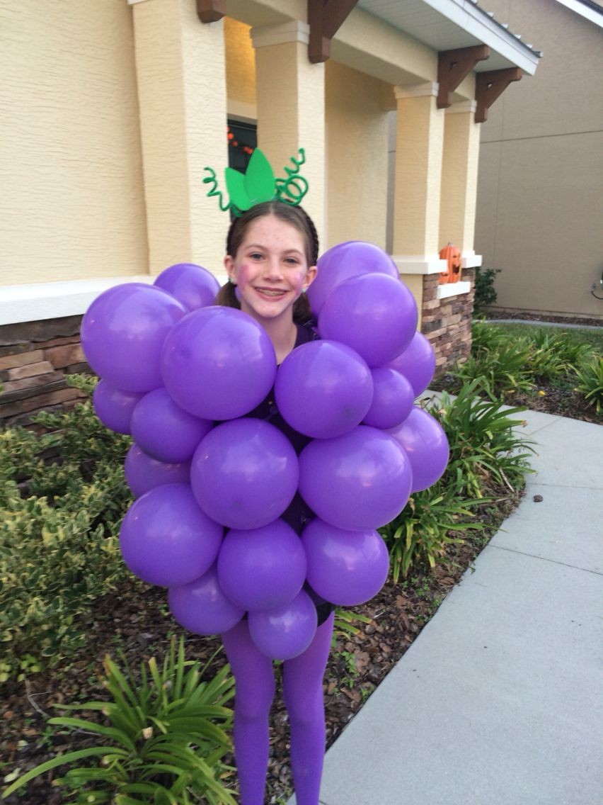 Best ideas about DIY Grapes Costume . Save or Pin Grapes Halloween costume takes 15mins Safety pin the Now.