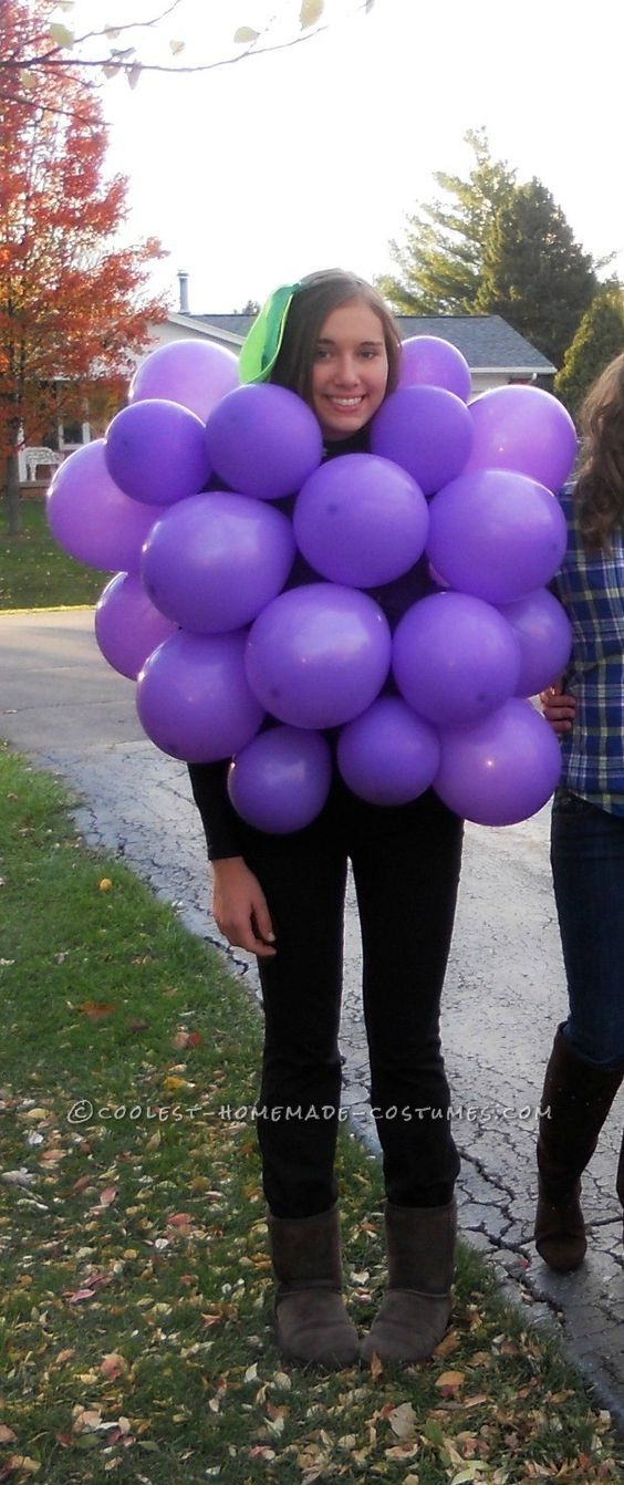 Best ideas about DIY Grapes Costume . Save or Pin Last Minute Costume Idea Original Bunch of Grapes Now.