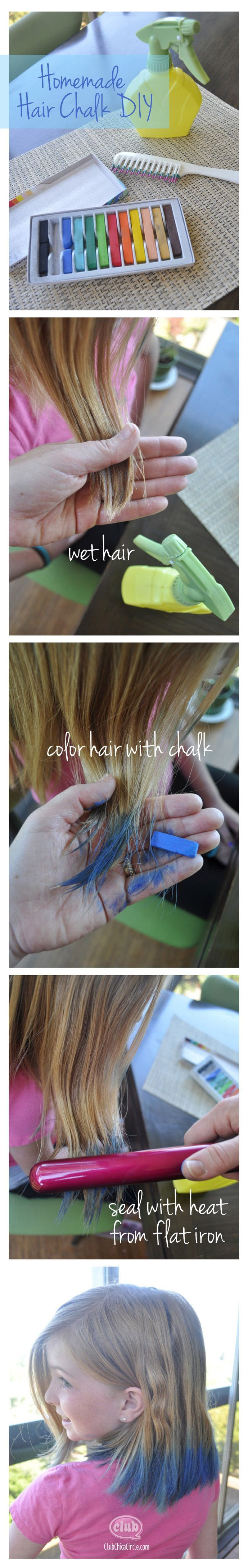 Best ideas about DIY Hair Chalking . Save or Pin Create this cool hair fashion trend at home with the easy Now.