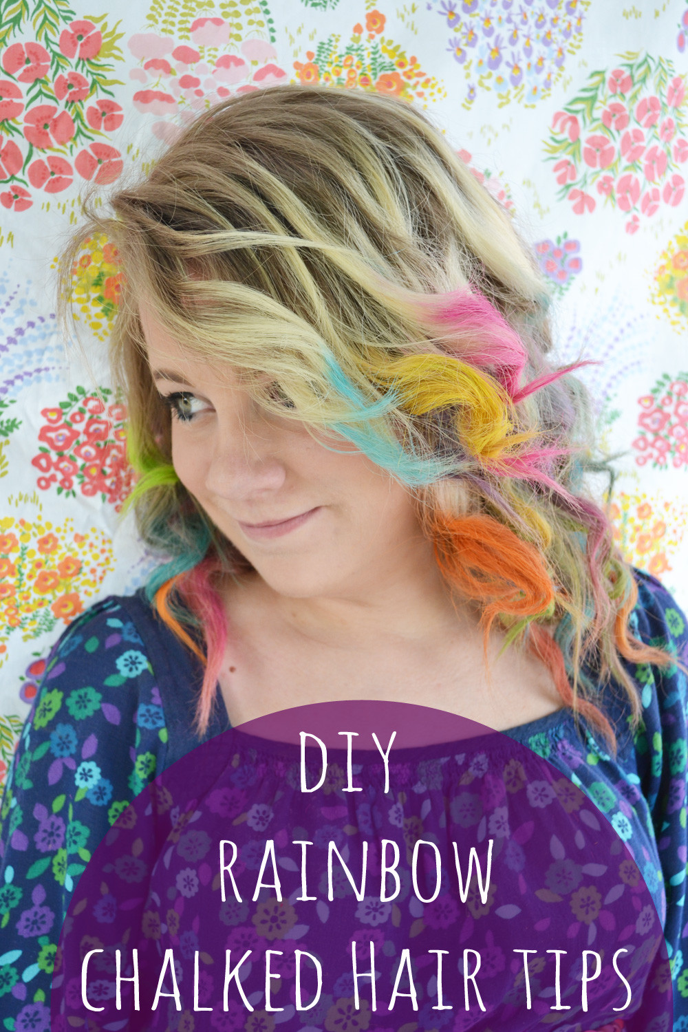 Best ideas about DIY Hair Chalking . Save or Pin Run 2 the Wild DIY RAINBOW HAIR CHALKED TIPS Now.