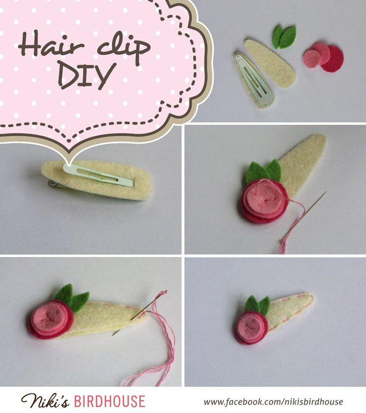 Best ideas about DIY Hair Clips . Save or Pin Easy DIY felt hair clip Now.