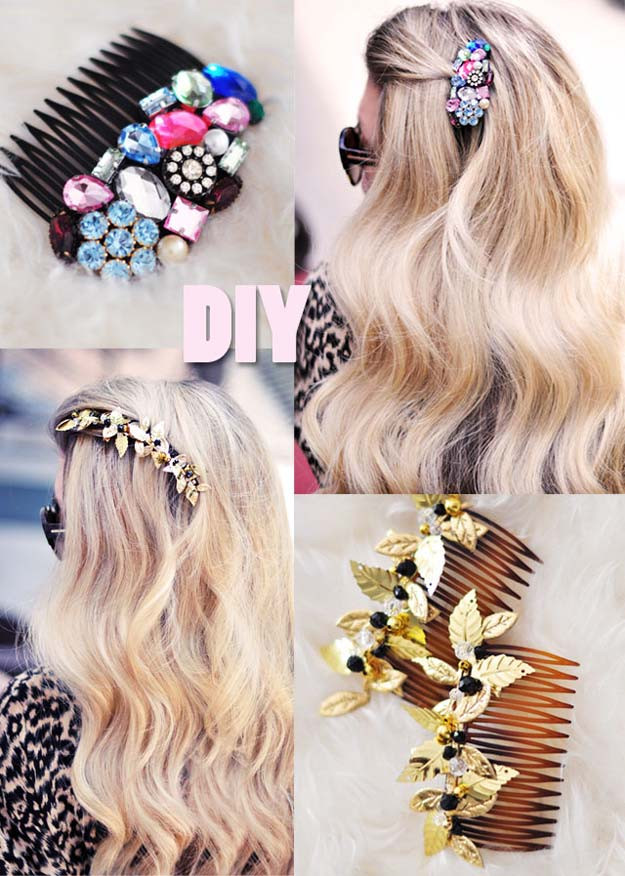 Best ideas about DIY Hair Clips . Save or Pin The 38 Most Creative DIY Hair Accessories We Could Find Now.