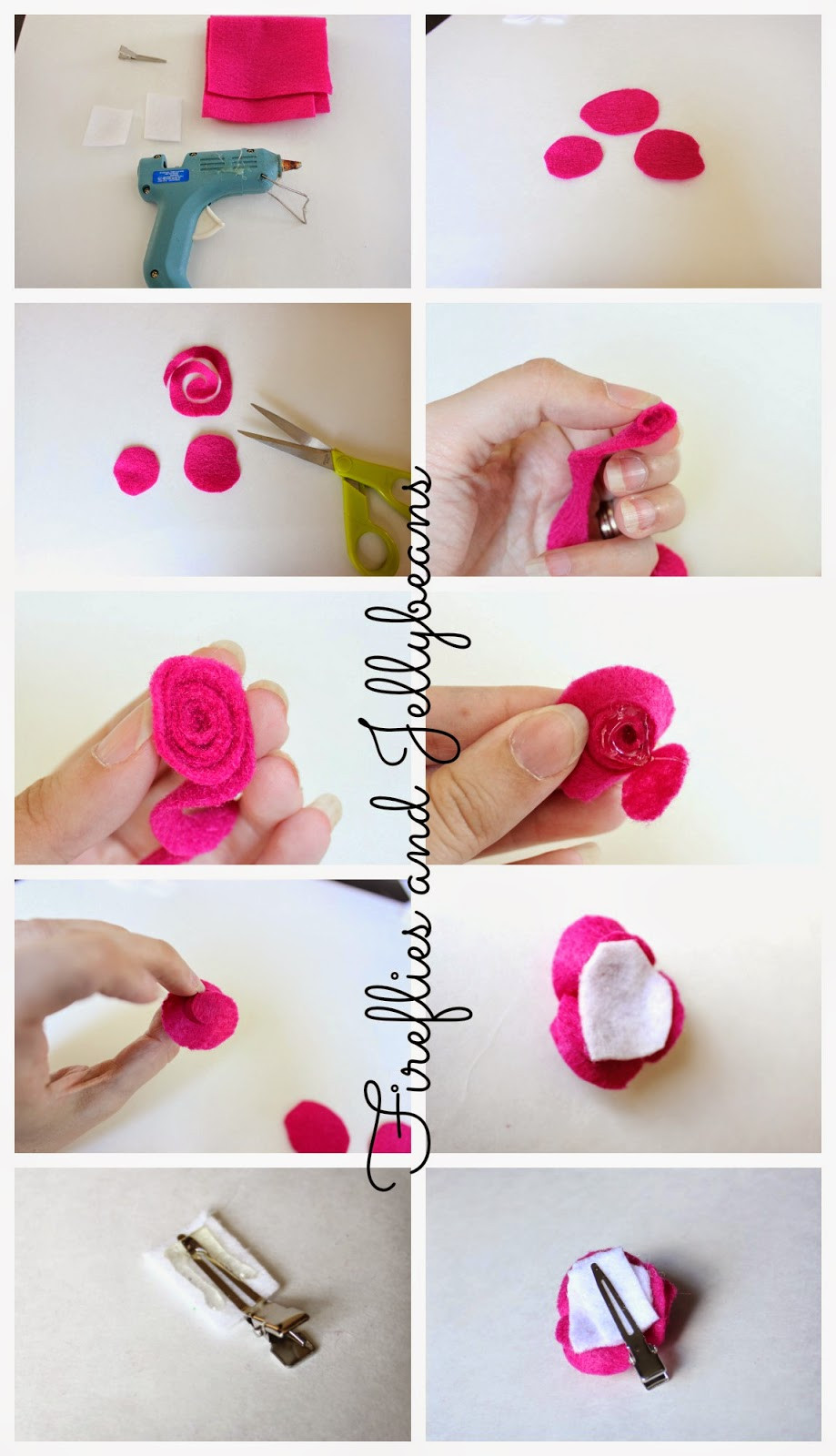 Best ideas about DIY Hair Clips . Save or Pin Fireflies and Jellybeans 3 Easy DIY 5 Minute Hair Clips Now.
