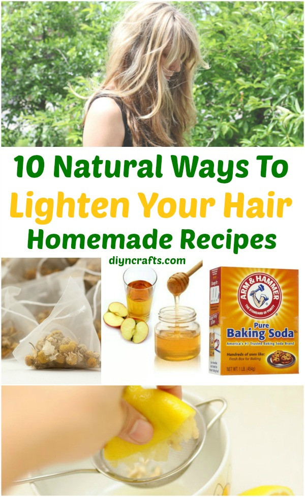 Best ideas about DIY Hair Lightening . Save or Pin 10 Ways to Lighten your Hair Naturally Homemade Recipes Now.
