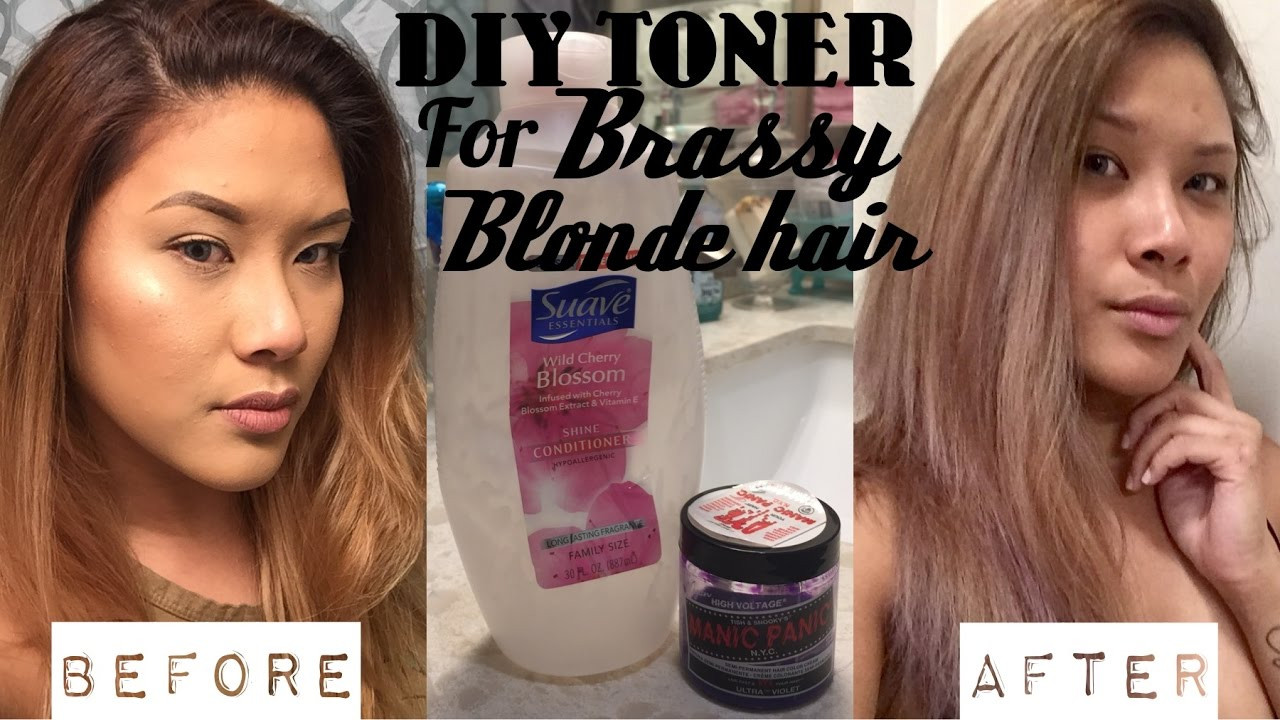 Best ideas about DIY Hair Toner With Food Coloring . Save or Pin DIY HAIR TONER for Brassy Blonde Hair DEMO Now.