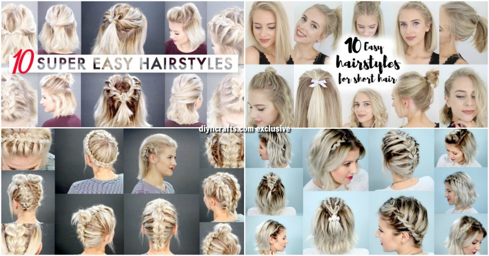 Best ideas about DIY Haircuts For Short Hair . Save or Pin 40 Effortlessly Stress Free DIY Hairstyles for Glamorous Now.
